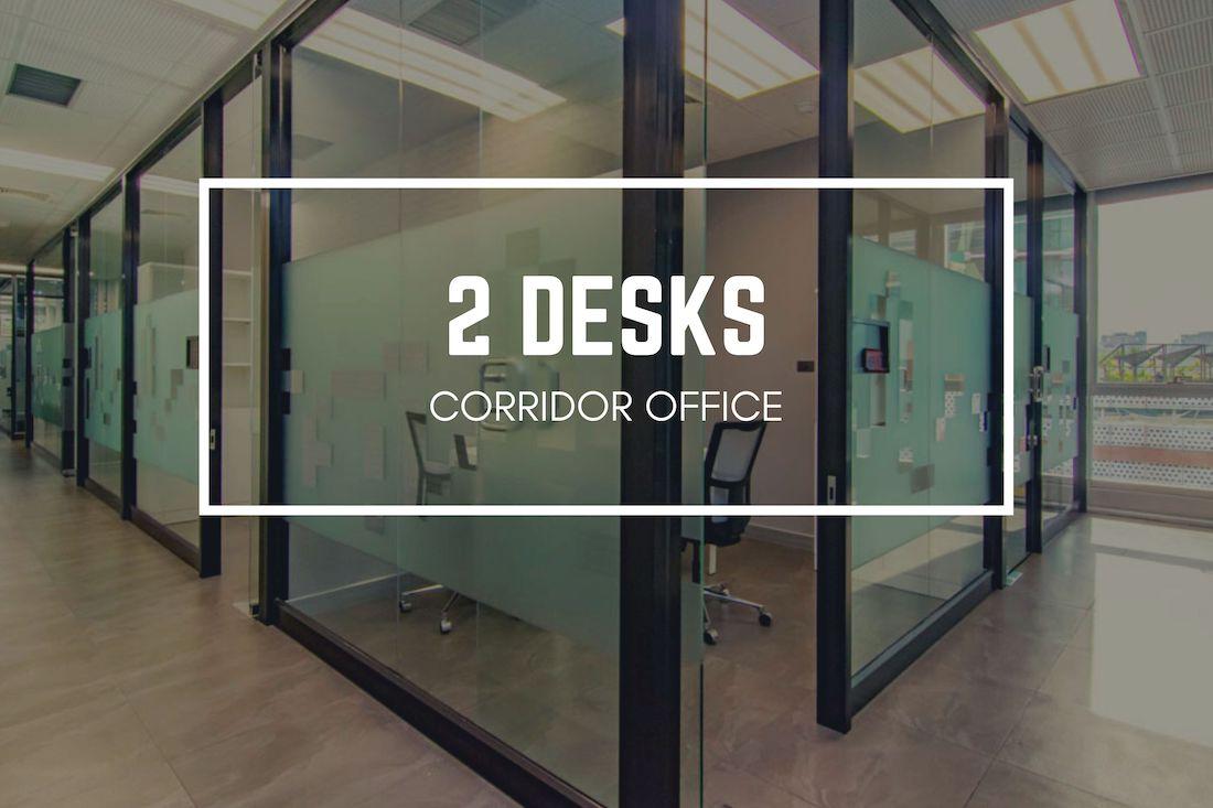 Antares Bangkok two desks corridor office