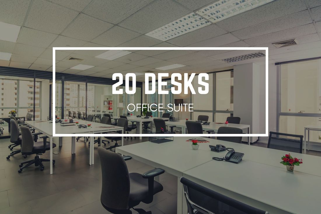 Antares Bangkok 20 desks office suite