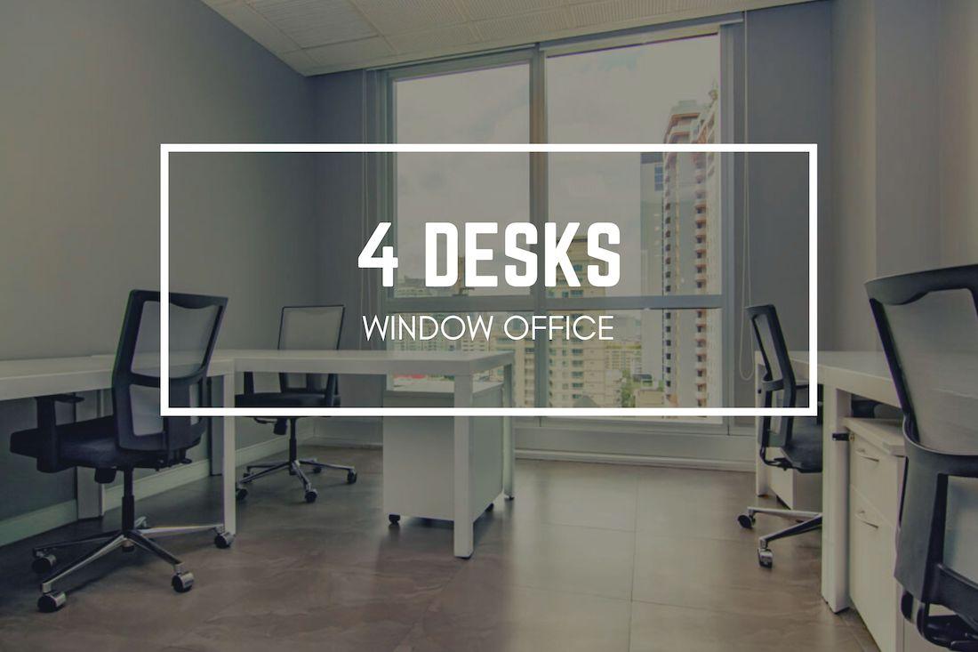 Antares Bangkok four desks window office