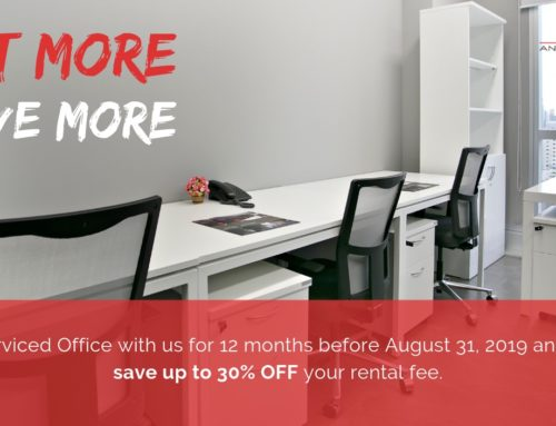 Serviced Office Promotion | Rent More, Save More